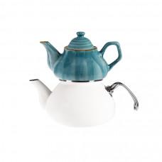 Emsan İzmir Porselenli Çaydanlık Takımı Pembe-Kahve-Siyah-Mavi NAKİT 100 TL