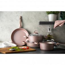 Emsan Premium Granit 7 Parça Tencere Seti Golden Pink NAKİT 370 TL