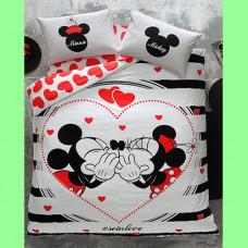 Taç Disney Minnie&Mickey Amour Nevresim Takımı (Çift Kişilik) NAKİT 220 TL